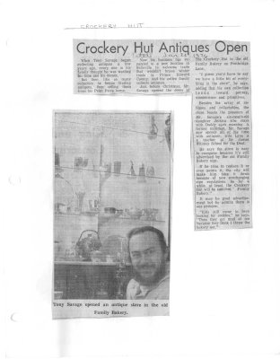 Crockery Hut Antiques Open