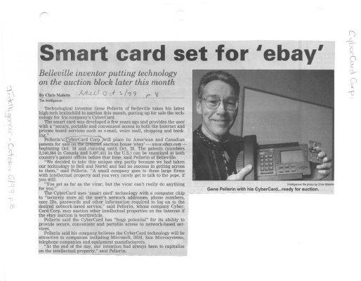 Smart card set for 'ebay' : CyberCard Corp