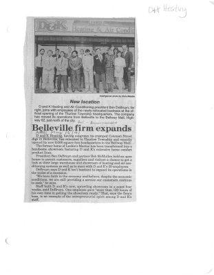 Belleville firm expands : DK Heating