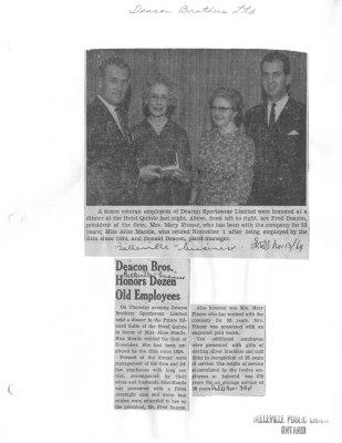 Deacon Bros. Honors Dozen Old Employees