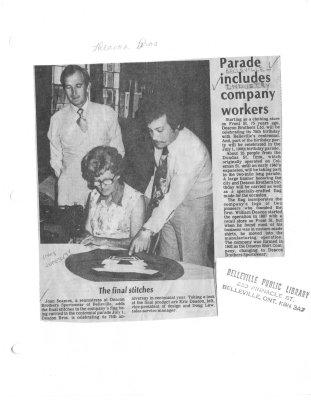 Parade includes company workers : Deacon Bros Ltd