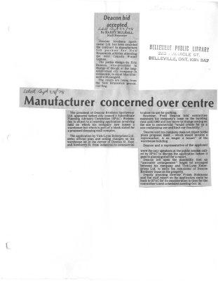 Manufacturer concerned over centre: Deacon Brothers