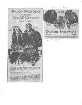 Deacon Sportwear Announces Grenfell Garments for Fall