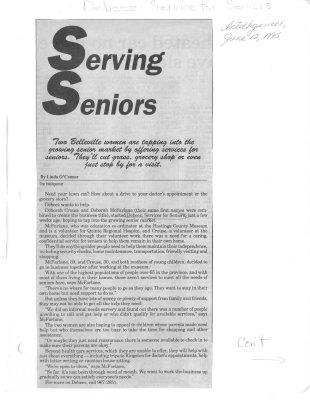Serving Seniors : Debeez-Service for Seniors