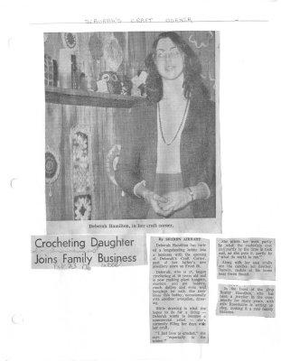 Crocheting Daughter Joins Family Business: Deborahs Craft Corner