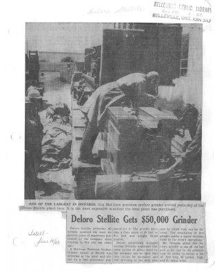 Deloro Stellite Gets $50,000 Grinder