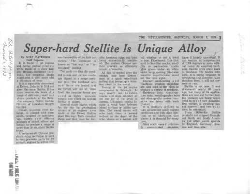 Super-hard Stellite is Unique Alloy
