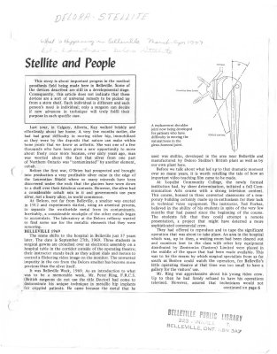 Stellite and People: Deloro Stellite