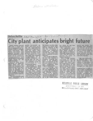 City  plant anticipates bright future: Deloro Stellite