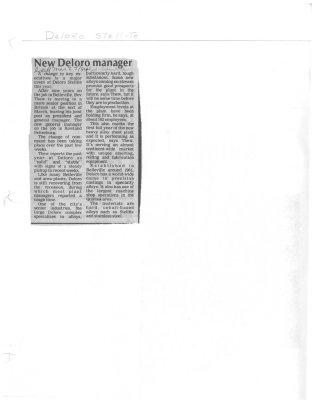 New Deloro manager: Deloro Stellite