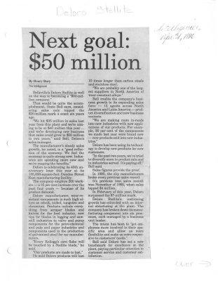 Next goal $50 million : Deloro Stellite