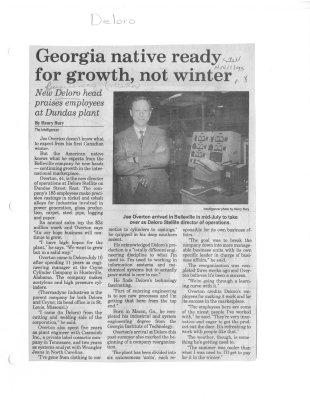 Georgia native ready for growth, not winter: Deloro Stellite