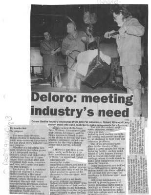 Deloro: meeting industrys need