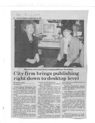 City firm brings publishing right down to desktop level: Desktop Publishing Centre