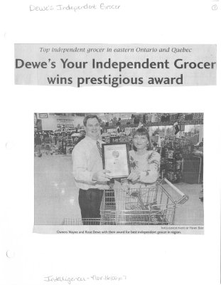 Dewes Your Independent Grocer wins prestigious award
