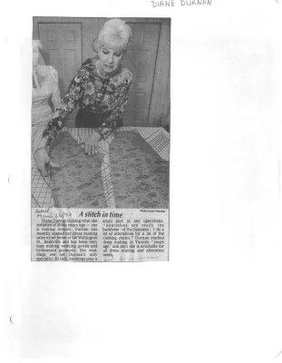 A stitch in time: Diane Durnan
