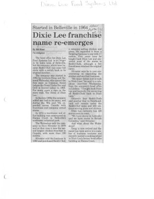 Dixie Lee franchise name re-emerges