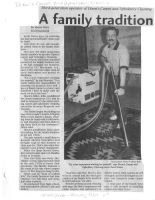 A family tradition: Dixons Carpet and Upholstery Cleaning