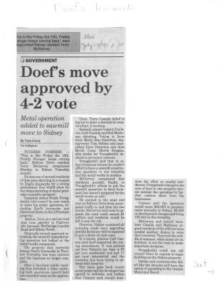 Doefs move approved by 4-2 vote