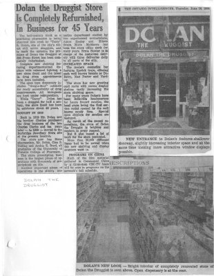 Dolan the Druggist Store is Completely Refurnished in Business for 45 Years