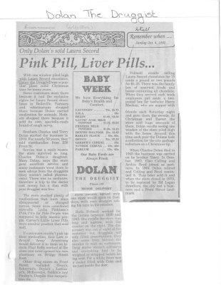 Pink Pill, Liver Pills: Dolan The Druggist