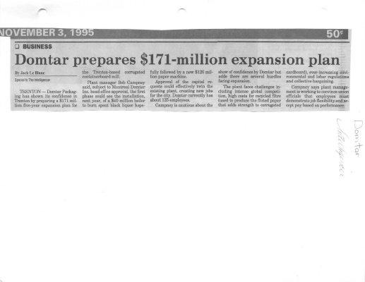 Domtar prepares $171-million expansion plan