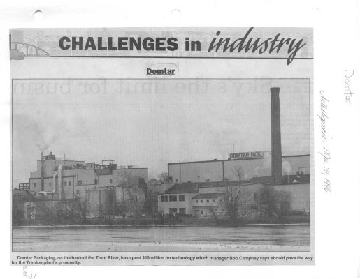 Challenges in industry Domtar