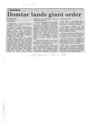 Domtar lands giant order