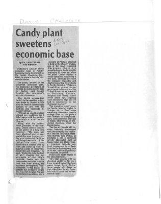 Candy plant sweetens economic base: Donini Chocolate