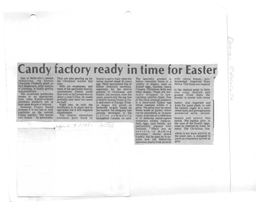 Candy Factory ready in time for Easter