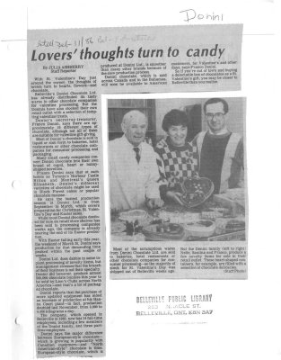 Lovers thoughts turn to candy: Donini Chocolates