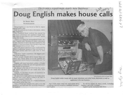 Doug English makes house calls