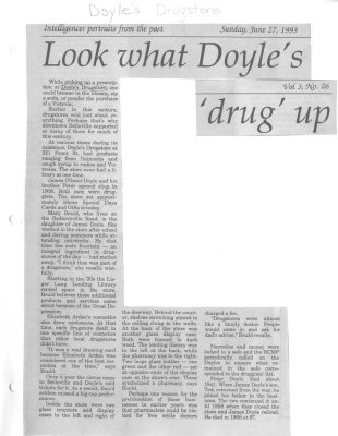 """Look what Doyle's """"drug"""" up: Doyle's Durgstore"""
