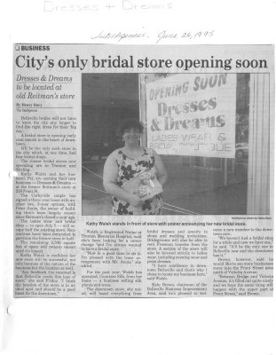 Citys only bridal store opening soon: Dresses and Dreams