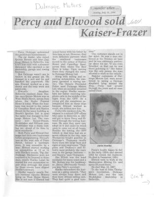 Percy and Elwood sold Kaiser-Frazer