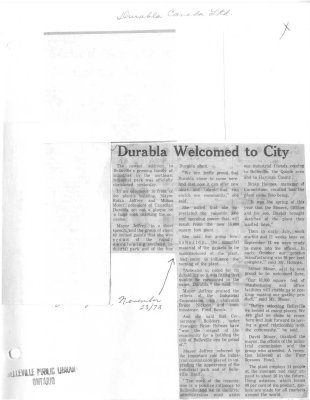 Durabla Welcomed to City