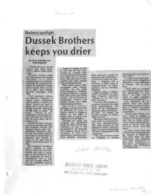 Dussek Brothers keeps you drier