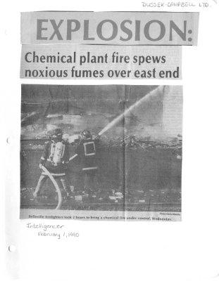 EXPLOSION: Chemical plant fire spews noxious fumes over east end