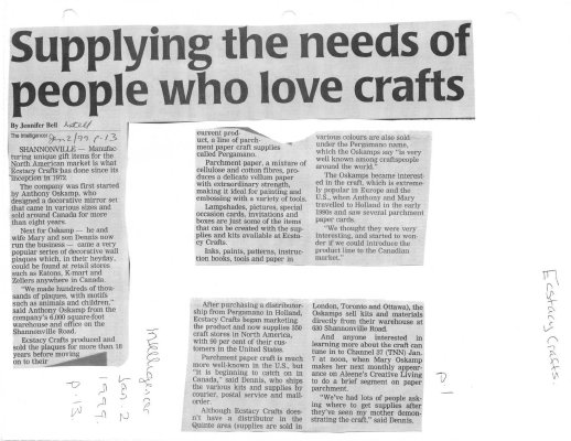 Supply the needs of people who love crafts