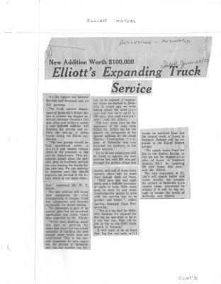 New Addition Worth $100,000 - Elliott's Expanding Truck Service