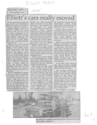 Elliott's cars really moved