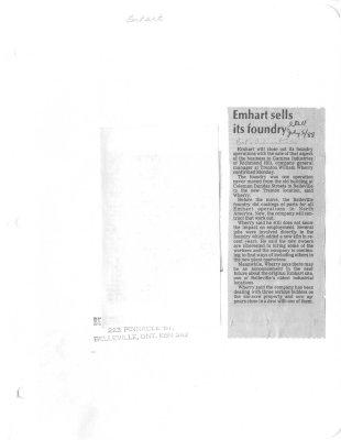 Emhart sells its foundry