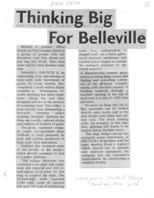Thinking Big For Belleville: EMS-Tech