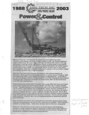 Power & Control: EMS-Tech Inc