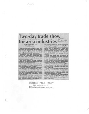 Two-day trade show for area industries: Emsco
