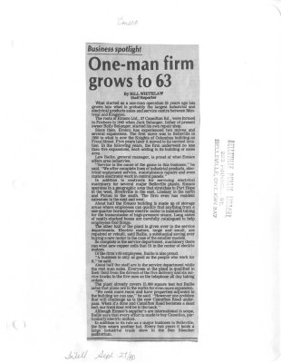 One-man firm grows to 63: Emsco