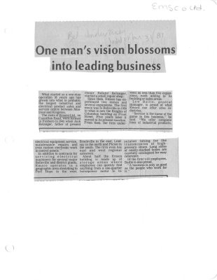 One man's vision blossoms into leading business: Emsco Ltd