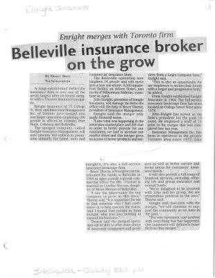 Belleville insurance broker on the grow: Enright Insurance