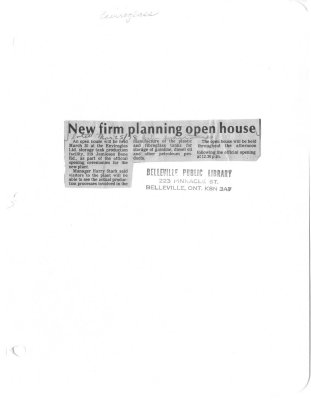 New firm planning open house: Environglass