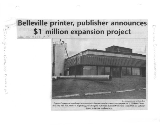 Belleville printer, publisher announces $1 million expansion project